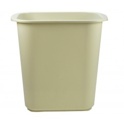 Cesto para basura rectangular color beige